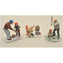 3 Norman Rockwell artwork inspired porcelains in boxes. Est.: $50-100
