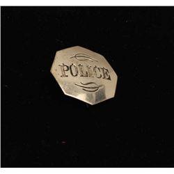 Vintage octagonal shaped shield marked Police. Est.: $100-$150.