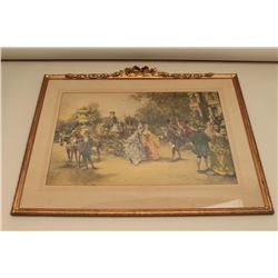Framed and matted mid-to-late 18th Century European, possibly French print