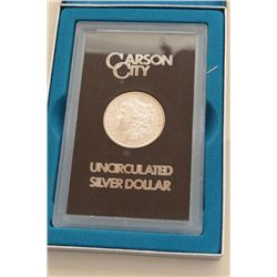 1882 Carson City silver Morgan dollar in mint pack with