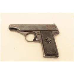 Walther Model 8 .25 caliber semi-Auto pistol, S/N 724106. Good