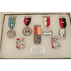 Lot of 7 shooting medals from Swiss festivals. 1945 to