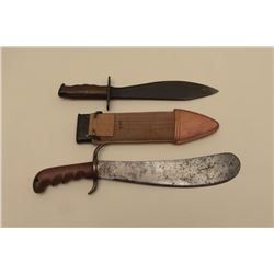 Lot of 2 military accessories including a Model 1917 Bolo