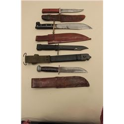 Lot of 4 military knives including a PAL belt knife