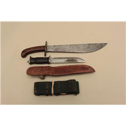 Lot of 3 military accessories including an E.G.W.-marked knife with