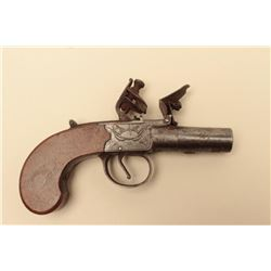Center hammer flintlock pistol marked Spencer circa about 1800-1820. Good