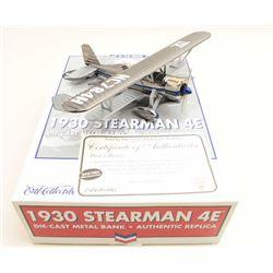 1930 Stearman 4E dicast biplane bank Chevron 1st in the