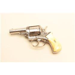 Webley Bulldog DA revolver, engraved, .41 caliber, 2.75 barrel, nickel