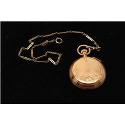 Antique American Watch Co. pocket watch in 14K gold case