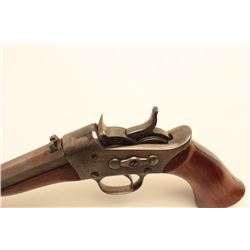 Remington Model 1871 Rolling Block pistol, converted to .22 caliber,