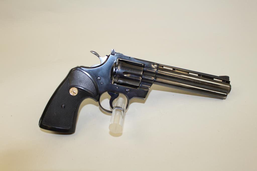 Colt Python 6 revolver #93364,  357 Mag, blue finish, later