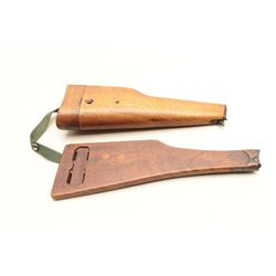 Lot of 2 pistol stocks as described: 1. Chinese stock for
