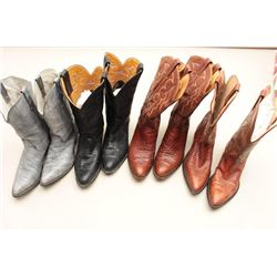 Lot of 4 leather boots Size 10.5. Tony Llama and
