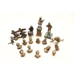 Lot of miniature bronzes from retiring Antique Dealer's Lifetime Collection,