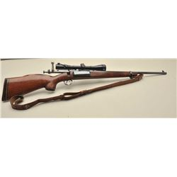 Sporterized Krag rifle with Ted Williams scope and mount. Measures