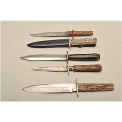 Various sizes, stag grips, 8.5-10 overall fair to to very