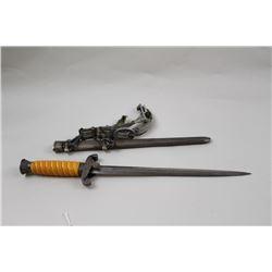 German Wermacht dagger with hanger, Puma marked blade very good