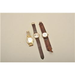 3-Vintage Wristwatches Early Rockford 20-30's runs but skips Waltham with