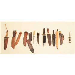 Bonanza lot of knives: 1ltio Valley River Dirk Pre-War U.K