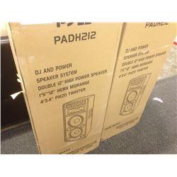PYLE PADH212 1600 WATT STEREO SPEAKER