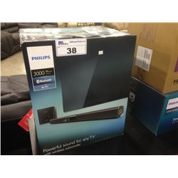 PHILIPS HPL310B 3000 SOUND BAR SPEAKER AND SUBWOOFER SET