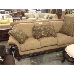 BROWN TRADITIONAL STYLE 3 SEAT SOFA