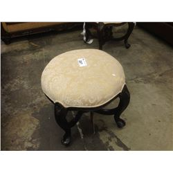 BEIGE PATTERN 24'' ROUND TRADITIONAL OTTOMAN