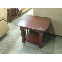 PAIR OF CHERRY 24'' X 24'' END TABLES
