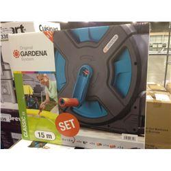 GARDENA 15M GARDEN HOSE AND REEL