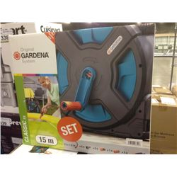 GARDENA 15M GARDEN HOSE AND REEL
