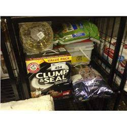 SHELF LOT OF ASSORTED CAT PRODUCTS