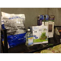 SHELF LOT OF PET SUPPLIES