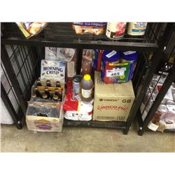 SHELF LOT OF ASSORTED FOOD PRODUCTS