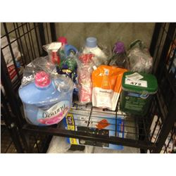 SHELF LOT OF ASSORTED CLEANING PRODUCTS