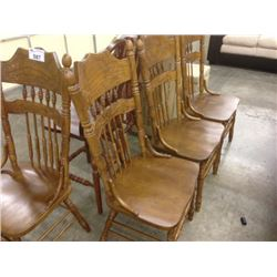 4 OAK FRAME KITCHEN CHAIRS
