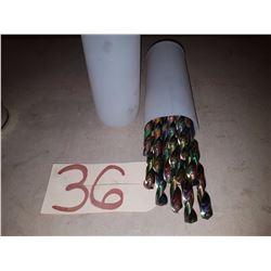 Drill 31/64''(2) - 1/2'(4) - 33/64''(2) - 17/32''(2) - 35/64''(2)