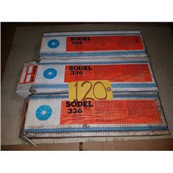 Lot of Boxes of Sodel 336 Welding Electrodes