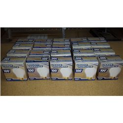 Lot of 15 boxs of two 100w rough service, long life light bulbs