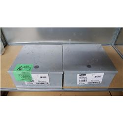 Lot of 2 new 12'' x 12'' x 6'' hinged pull boxes