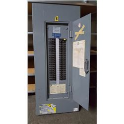 Square D electrical panel full of breakers