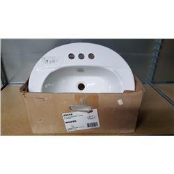 20 x 17 deep oval lavatory