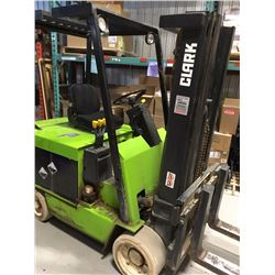 Clark Electric Fork Lift 6000lbs 3 sections & Side Shift and charger