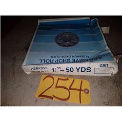 Abrasive Shop Roll 1''1/2 x 50yds Gr120