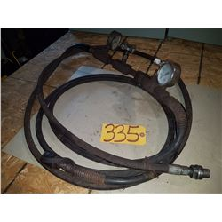 Hose with Pressure Gage