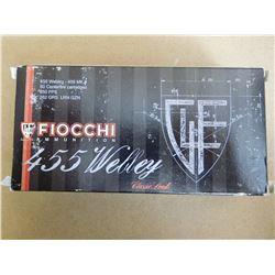 FIOCCHI AMMUNITION 455 WEBLEY MK II 262 FR LRN