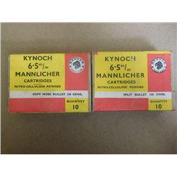 KYNOCH 6.5 X 53 R OR 54 R RIMMED DUTCH/ROMAINIAN