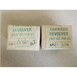 REVOLVER CART. .380 (DC) MK11Z DATED DEC 3 1943, APR 1 1944