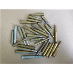 ASSORTED LOT OF RIFLE AMMUNITION INCLUDING .30, 38-55, 30-06, 38-56, 308 AND VARIOUS
