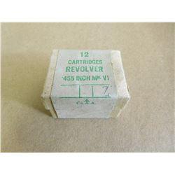 REVOLVER CART .455 MK VI WITH BROAD ARROW STAMP
