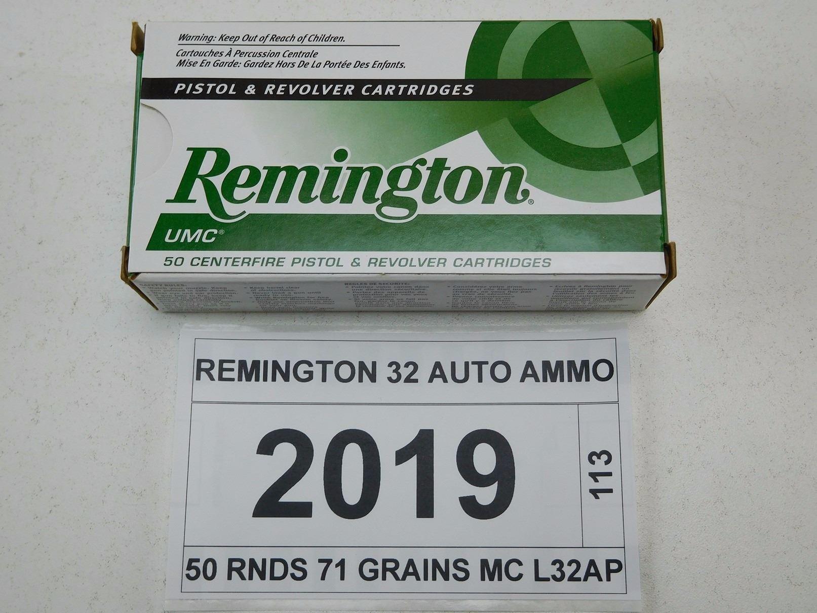 REMINGTON 32 AUTO AMMO